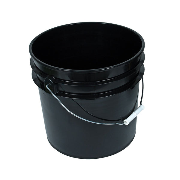 Black Bucket w/ Handle, 3.5 Gallon - Containers - Rogue Hydro