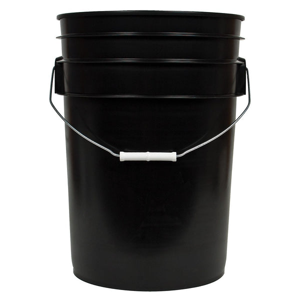Black Bucket w/ Handle, 6 Gallon - Containers - Rogue Hydro