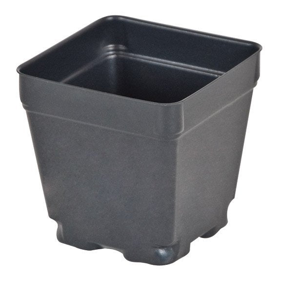 "Black Square Shuttle Pot, 3.5"" x 2.75"" x 3.5"" - Containers - Rogue Hydro"