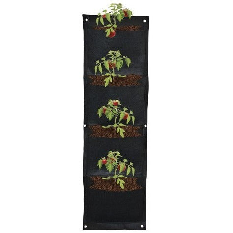 Grow1 4 Pouch Hanging Wall Pots
