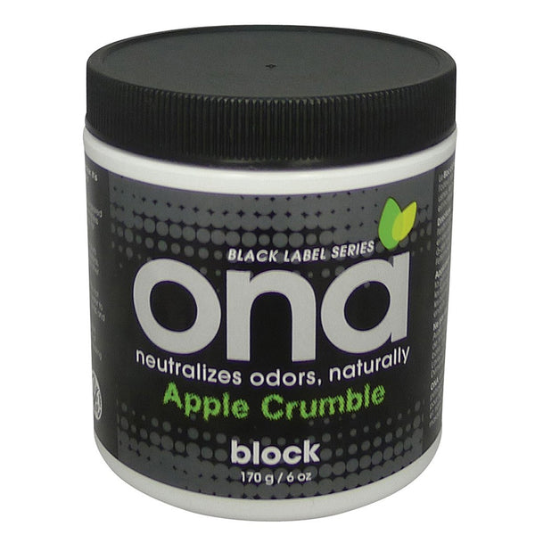 ONA Block Apple Crumble, 6 Ounces - Deodorizer Block - Rogue Hydro
