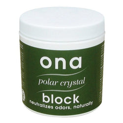 ONA Block Polar Crystal, 6 Ounces - Deodorizer Block - Rogue Hydro