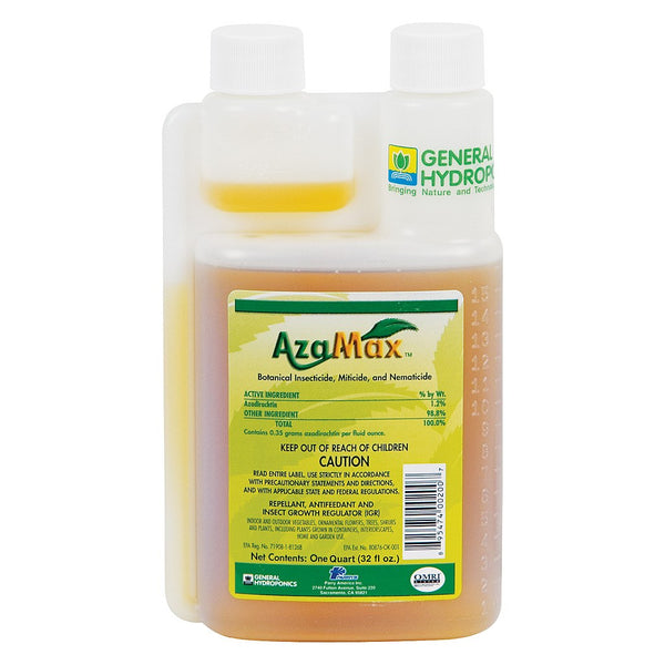 General Hydroponics Azamax, 1 Quart - Disease and Pest Control - Rogue Hydro - 1