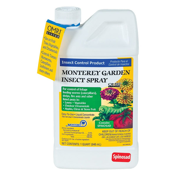 Monterey Garden Insect Spray Concentrate, 1 Quart - Disease and Pest Control - Rogue Hydro