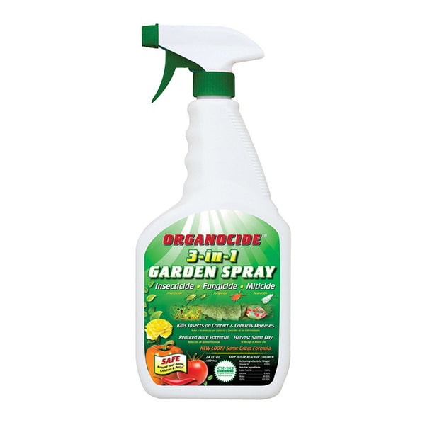 Organocide 3 in 1 Garden Spray RTU, 24 Ounces - Disease and Pest Control - Rogue Hydro