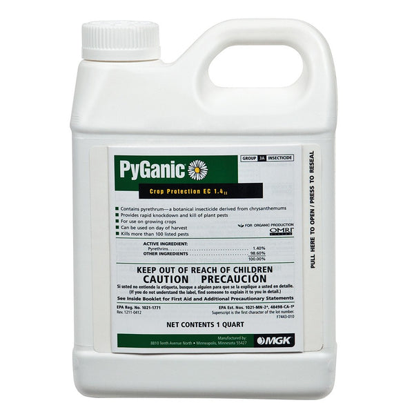PyGanic Crop Protection EC 1.4, 1 Quart - Disease and Pest Control - Rogue Hydro