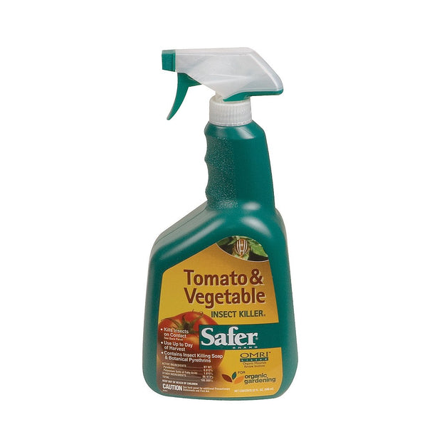 Safer Tomato & Vegetable Insect Killer RTU, 1 Quart - Disease and Pest Control - Rogue Hydro