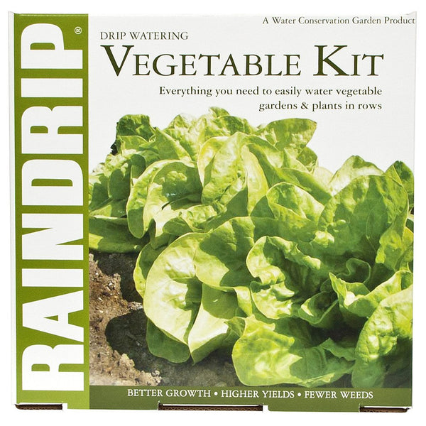 Raindrip Drip Vegetable Garden Kit and Anti-Syphon - Drip Irrigation Kit - Rogue Hydro