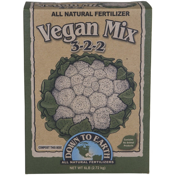 Down To Earth Vegan Mix 3-2-2, 6 Pounds - Dry Fertilizer - Rogue Hydro