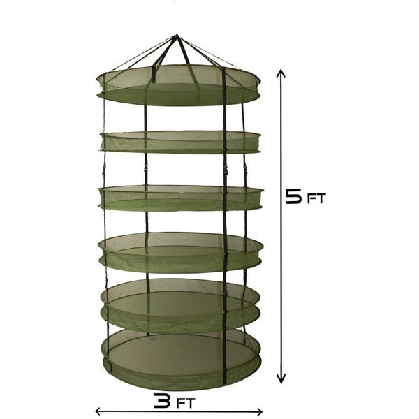 Grow1 3' Dry Net Rack w/ Clip-On Levels - Drying Rack - Rogue Hydro - 2