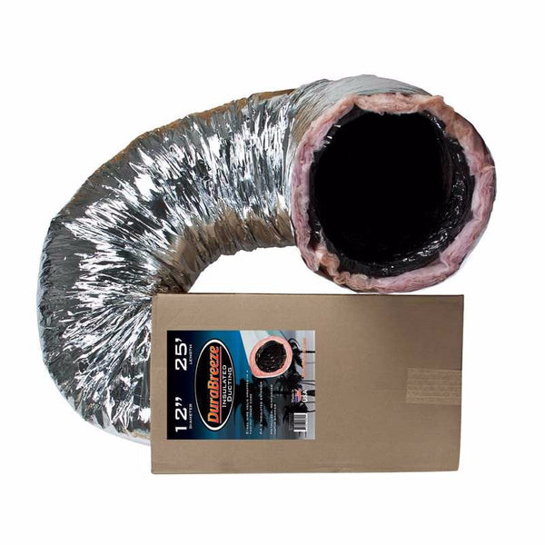 "DuraBreeze Insulated Ducting, 12"" x 25'"