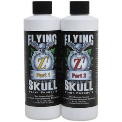 Flying Skull Z7 2-Part Concentrated Enzyme Cleanser, 8 Ounces (16 Ounces Total) - Enzymes - Rogue Hydro - 1