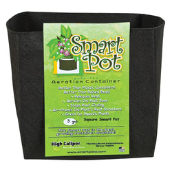 Smart Pot Square, #3 - Fabric Pot - Rogue Hydro