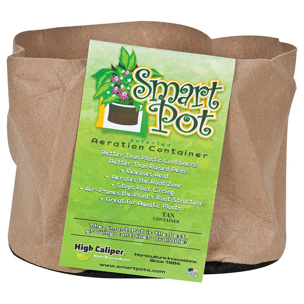 "Smart Pot Tan, #3, 10"" - Fabric Pot - Rogue Hydro"