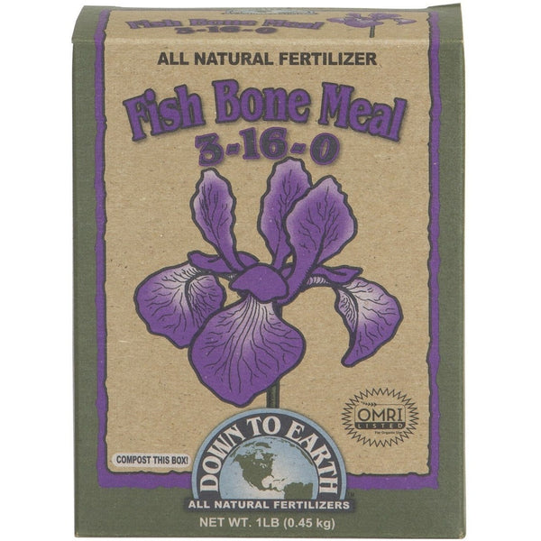 Down To Earth Fish Bone Meal 3-16-0, 1 Pound