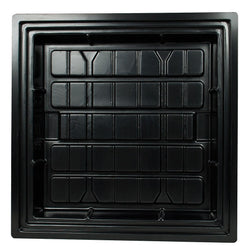 Black Flood Tray, 3' x 3' - Flood Tray - Rogue Hydro