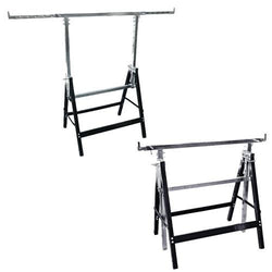 Adjustable Saw Horse Tray Stands, 2 Pack - Flood Tray Stands - Rogue Hydro - 1