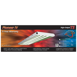 Pioneer 4' x 4 Tube T5 Fixture, Tubes Not Included - Fluorescent Grow Light - Rogue Hydro