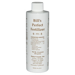Bill's Perfect Fertilizer, 8 Ounces - Foliar Spray - Rogue Hydro