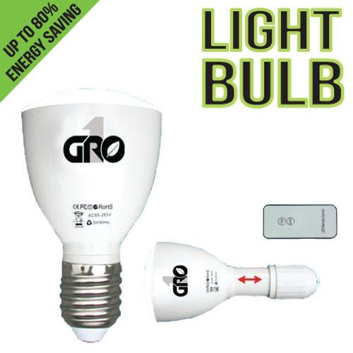 Grow1 Green LED Light Bulb w/ Remote - Green Lights - Rogue Hydro - 1