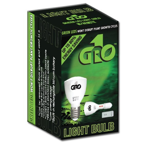 Grow1 Green LED Light Bulb w/ Remote - Green Lights - Rogue Hydro - 4