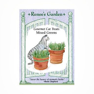 Renee's Garden Cat Treats - Mixed Greens - Greens - Rogue Hydro - 1