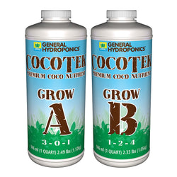 General Hydroponics CocoTek Grow A & B Set, Quarts - Grow Nutrients - Rogue Hydro - 1