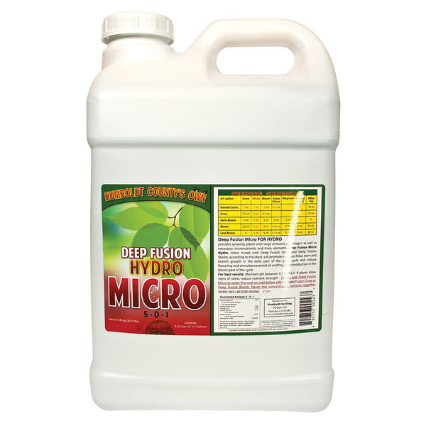 Humboldt County's Own Deep Fusion Micro Hydro, 2.5 Gallons - Grow Nutrients - Rogue Hydro