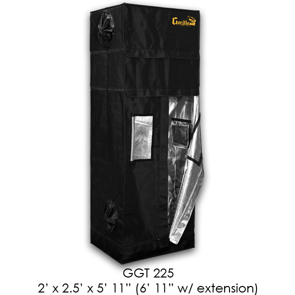 Gorilla Grow Tent, 2x2.5x6 w/ 7ft Height Extension