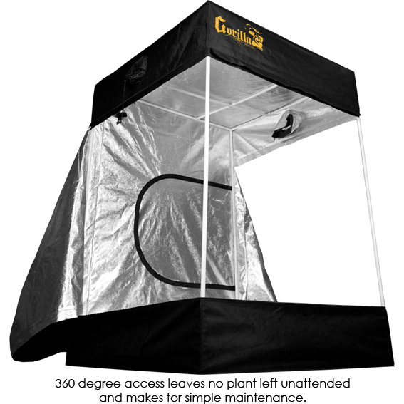 Gorilla Grow Tent, 5x5x7 w/ 8ft Height Extension
