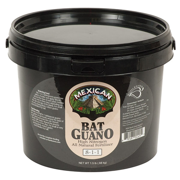 Sunleaves Guano Mexican Bat, 1.25 Pounds - Guano - Rogue Hydro