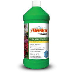 Alaska Liquid Kelp Fertilizer 0.13-0-0.60, 1 Quart - Kelp - Rogue Hydro