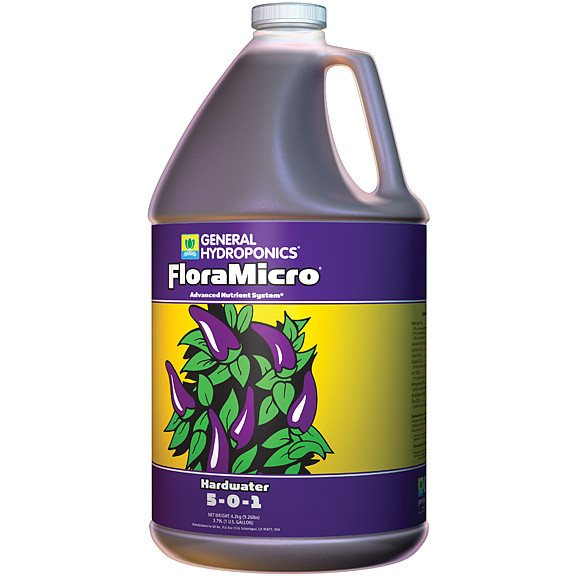 General Hydroponics FloraMicro Hardwater, 1 Gallon