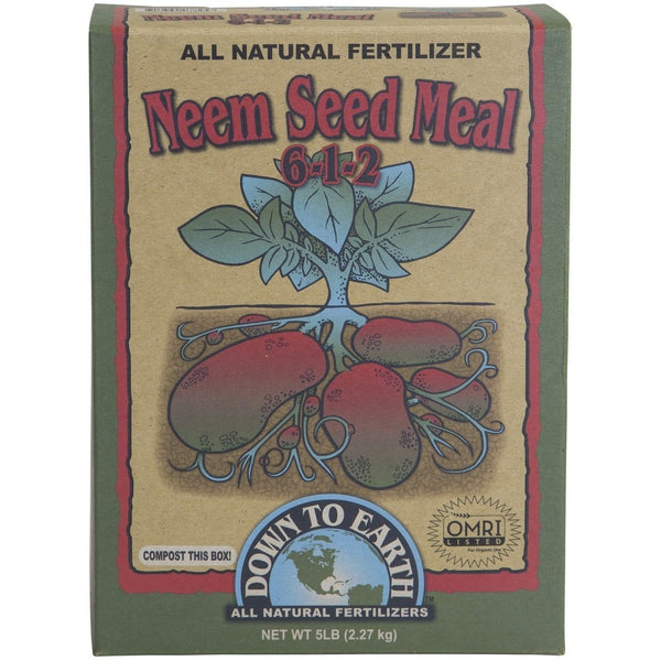 Down To Earth Neem Seed Meal, 5 Pounds - Neem Seed Meal - Rogue Hydro