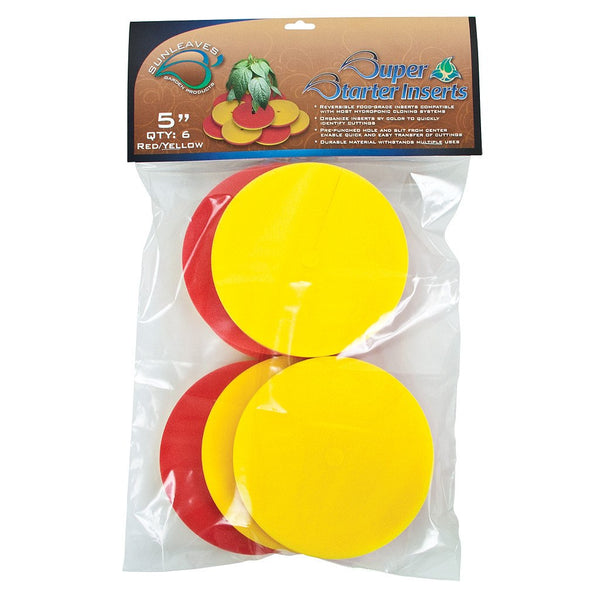"Super Starter Insert, 5"", Red/Yellow, 6 Pack - Neoprene Inserts - Rogue Hydro"