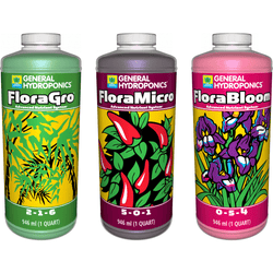 General Hydroponics Flora Series 3 Pack, Quarts