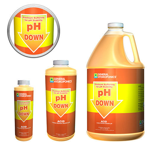 General Hydroponics pH Down, 1 Quart