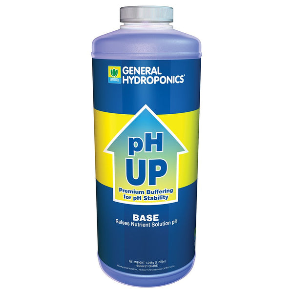 General Hydroponics pH Up, 1 Quart