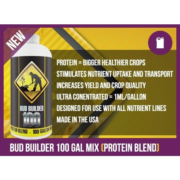 Bud Builder Protein Blend 100 Gallon Mix, 100 mL - Plant Protein - Rogue Hydro - 3
