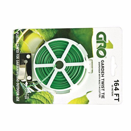 Grow1 Garden Twist Tie w/ Cutter, 164 ft