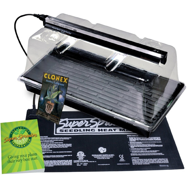 Super Sprouter Premium Propagation Kit with 7 in Dome & T5 Light - Propagation Kit - Rogue Hydro - 1