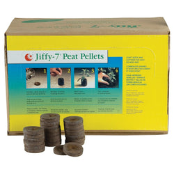Jiffy-7 Peat Pellet, 36 mm, 1000 Case - Starter Plugs - Rogue Hydro