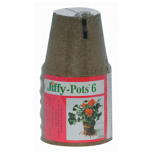 "Jiffy Peat Pot 4"" Round, 6 Pack - Starter Plugs - Rogue Hydro"