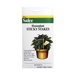 Safer Houseplant Sticky Stakes, 7 Pack - Sticky Trap - Rogue Hydro