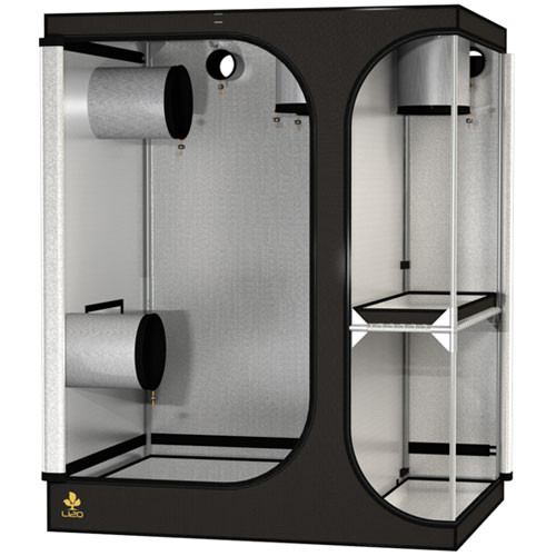Secret Jardin Lodge 120 v2.6 L120 3x4x4.75 2 Station Grow Tent - Two-Station Grow Tent - Rogue Hydro - 1