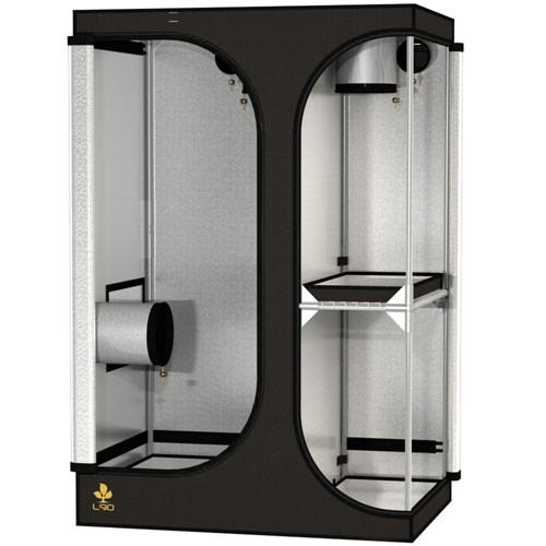 Secret Jardin Lodge 90 v2.6 L90 2x3x4.4 2 Station Grow Tent - Two-Station Grow Tent - Rogue Hydro - 1