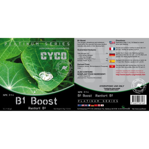 Cyco B1 Boost, 5 Liters - Vitamin Supplement - Rogue Hydro - 2