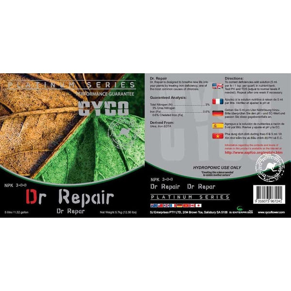 Cyco Dr. Repair, 5 Liters - Vitamin Supplement - Rogue Hydro - 2