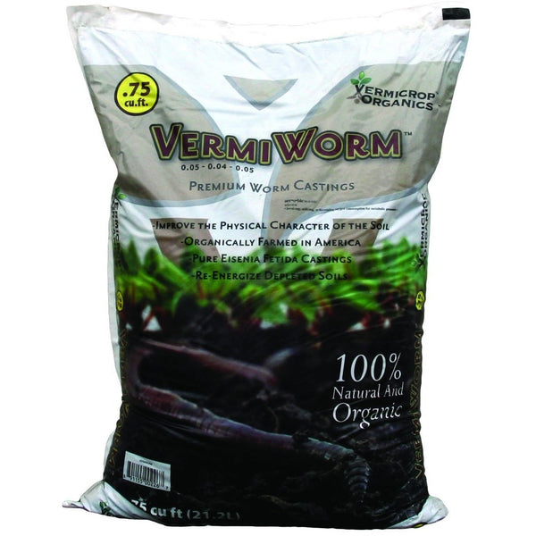Vermicrop Organics VermiWorm Worm Castings, 3/4 cu ft - Worm Castings - Rogue Hydro