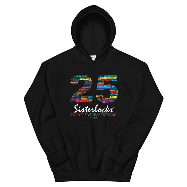 Sisterlocks 25th Anniversary Hoodie - Black